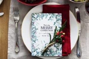 Personalised Christmas printed place settings