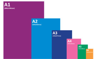 Paper sizes from A1 to A6